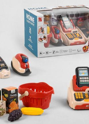 Мини супермаркет с кассовым аппаратом, сканером и терминалом д...