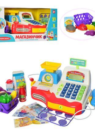 Детский игровой музыкальный Магазин кассовый аппарат с микрофо...