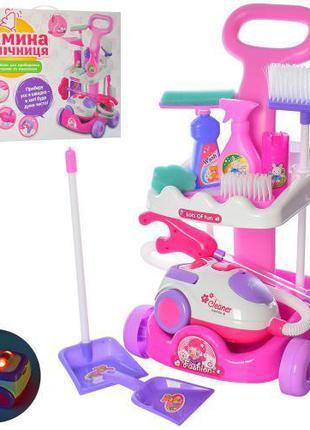 Детский игровой набор для уборки с тележкой и пылесосом А5938-...
