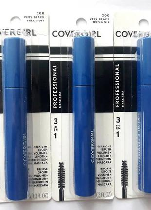 Тушь для ресниц covergirl professional 3-in-1 mascara - very b...