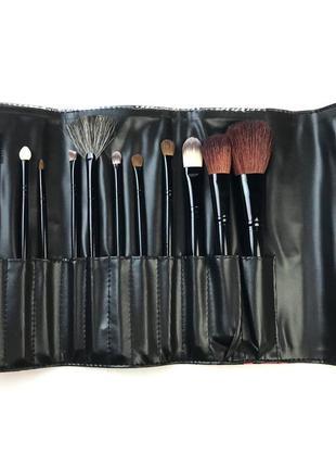 Набор кистей для макияжа crown 12pc zebra brush set