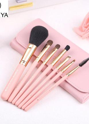 Набор кистей для макияжа zoreya - 7 pc - pink