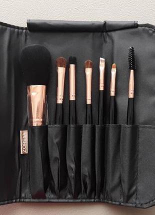 Набор кистей для макияжа zoreya 7рс черный