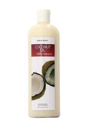 Натуральное масло кокоса coastal scents raw virgin coconut oil...
