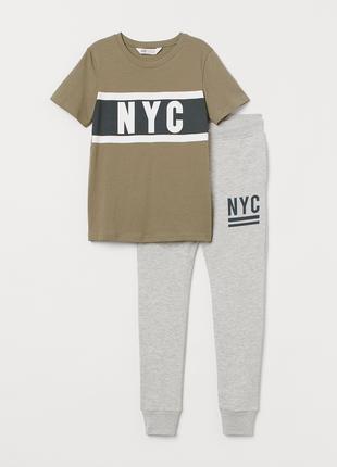 комплект H&M футболка и джоггерсы р.14+ рост 170