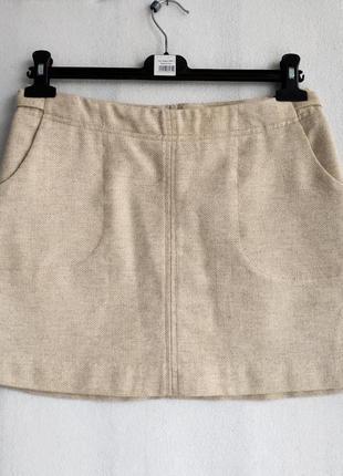Теплая шерстяная юбка трапеция h&m