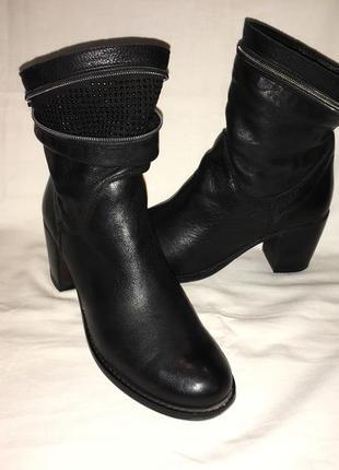 Ботинки кожа италия р.39 (25.50 см)