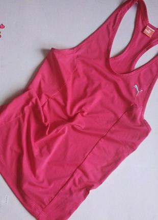 Яркая майка-борцовка puma спортивная, одежда для фитнеса