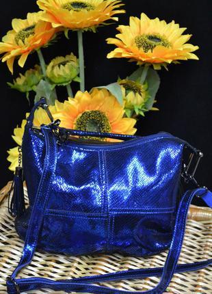 Яркая женская кожаная сумка