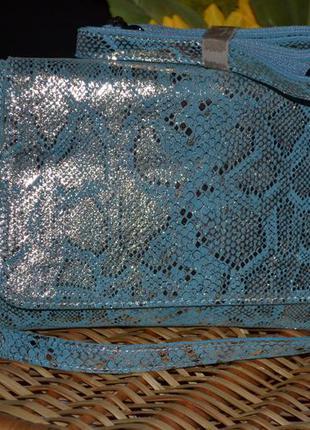 Кожаная сумка с напылением