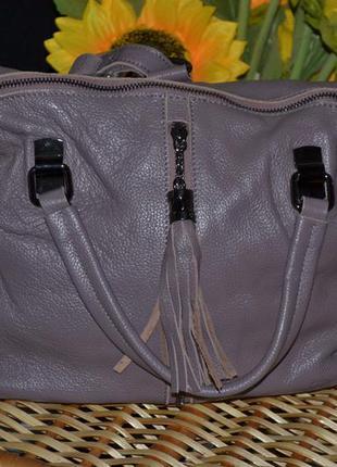 Кожаная сумка рюкзак