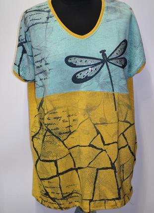 Летняя женская лёгкая футболка