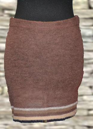 Вязаная мини юбка