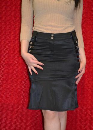 Чёрная офисная юбка