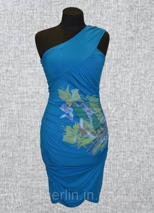 Повседневное платье-сарафан с камнями сваровски