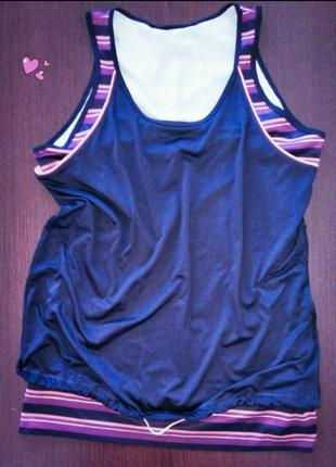 Майка tchibo двойная красивая спортивная, одежда для фитнеса
