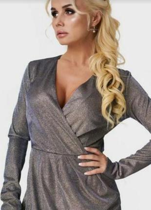 Женское s.oliver вечернее нарядное платье миди на запах длинны...