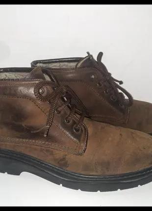 """Мужские кожаные демисезонные ботинки """"vera pelle"""", италия"""