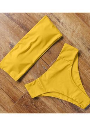 Новинка! трендовий модний купальник 2020, желтый купальник, пл...