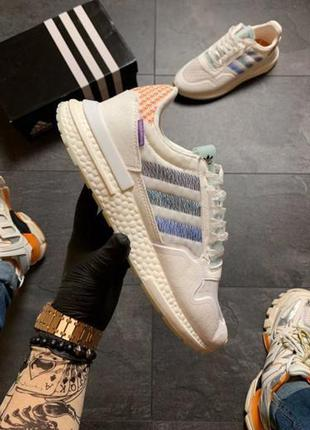 Белые кроссовки унисекс adidas zx 500 commonwealth