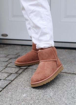 Ugg mini mole! женские замшевые зимние угги/ сапоги/ ботинки 😍...