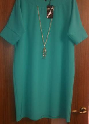 """Распродажа!!! стильное платье """"fervente"""", бирюзового цвета   р..."""