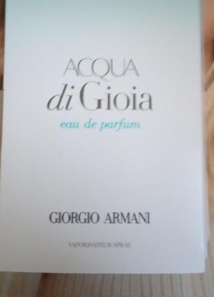 Пробник giorgio armani acqua di gioia парфюмерная вода