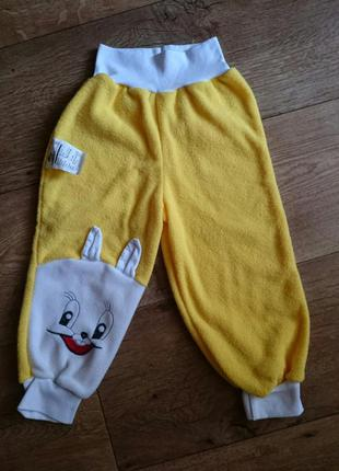 Мягенькие утеплённые штанишки на флисе