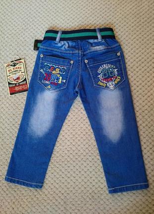 Стильные джинсы на мальчика 2-3 года