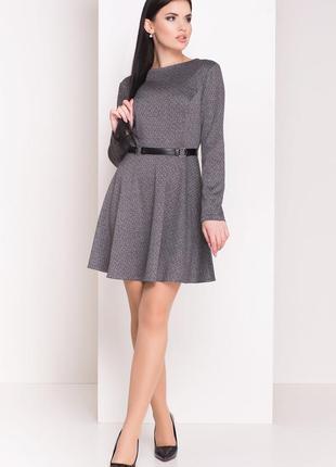 Стильно, тёплое платье с юбкой-солнце    *!качество одежды на ...