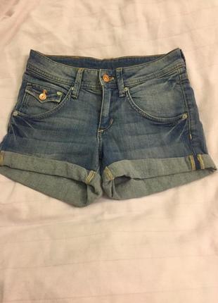 Шорты фирменные джинсовые h&m голубые 32 размер ,хлопок h&m