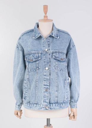 Стильная джинсовая куртка джинсовка пиджак с надписью большой ...