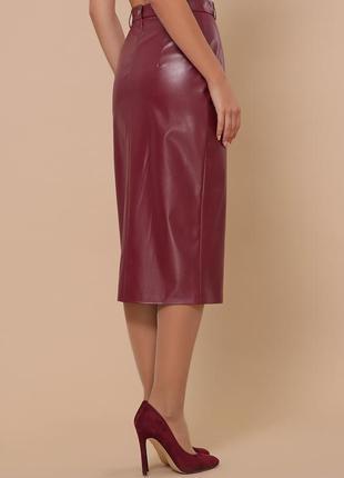 Фирменная юбка из эко кожи  *доступные цены*)