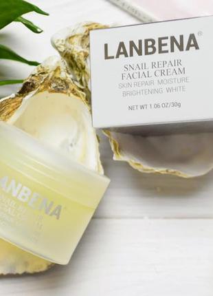 Антивозрастной крем для лица lanbena на основе пептидного комп...