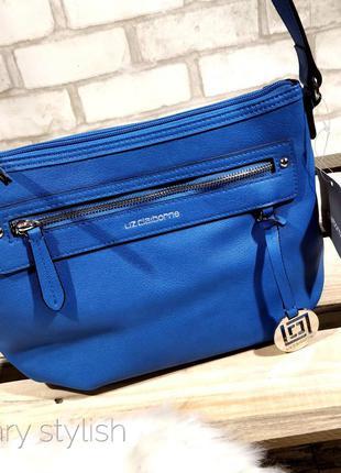 Сине-голубая новая сумка