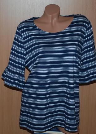 Блуза 100%хлопок бренда tcm tchibo /красиво оформлен рукав /