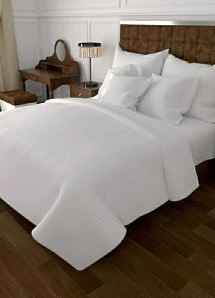 Хлопковое постельное белье белая полоса все размеры