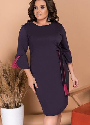 Платье французский трикотаж 3 цвета 48-62