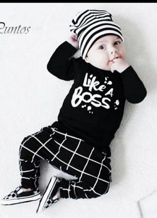 Теплый костюм для малышей Like a boss