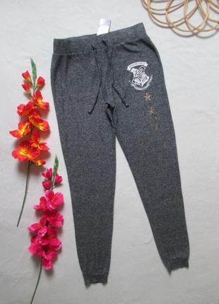 Суперовые флисовые мягкие спортивные штаны серый меланж гарри ...