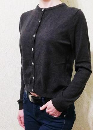 Осенний зимний кардиган кофта на пуговицах с длинным рукавом zara
