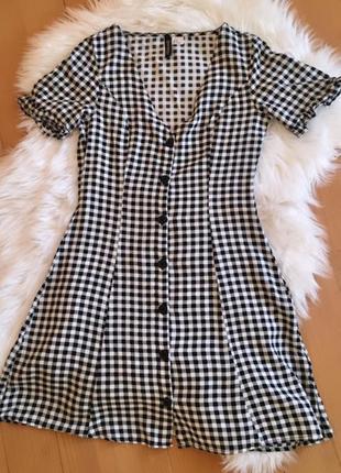 Міні плаття в клітинку