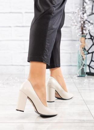 ❤ женские бежевые кожаные туфли лодочки ❤
