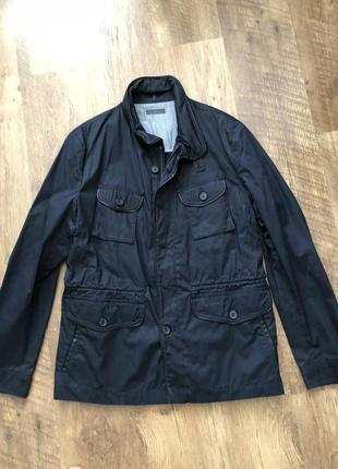 Куртка дождевик ветровка черного цвета демисезон