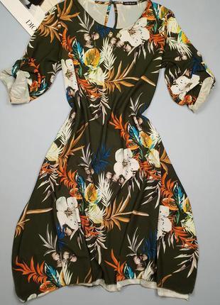 Платье в стиле бохо в цветочный принт италия