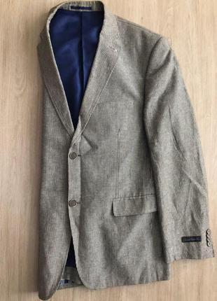Пиджак в полоску черно-белый
