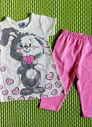 Летний костюм зайчик для девочки 2 года