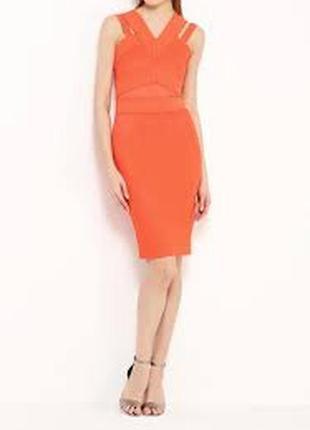 Роскошное персиковое платье платье river island