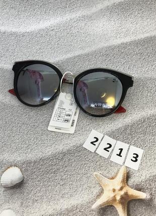 Модные солнцезащитные очки зеркальные к. 2213