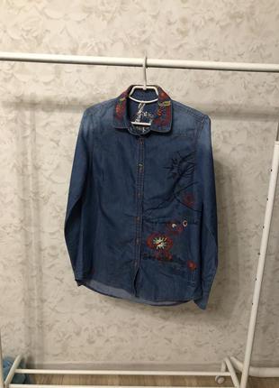 Джинсовая рубашка desigual!